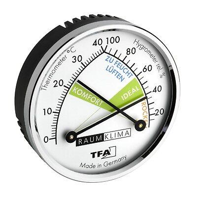 TFA 45.2024 Analogue thermo-hygrometer with metal ring