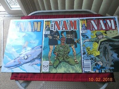"""the Nam"" Comic Book By Marvel Comics - Viet Nam - Set Of 3 Books"