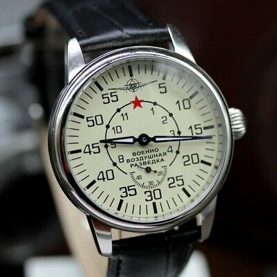 Vintage POBEDA Pilot AVIATOR Aerial Reconnaissance Men's Russian MILITARY Watch