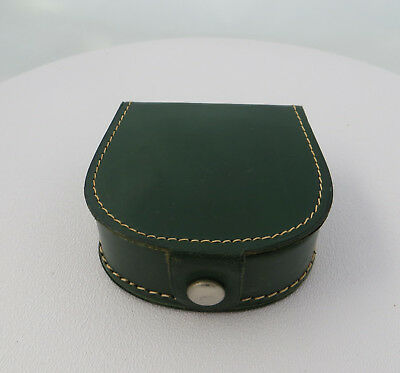 Small Green Leather Case - Genuine Hide - For Gentleman's Shirt Studs Cufflinks