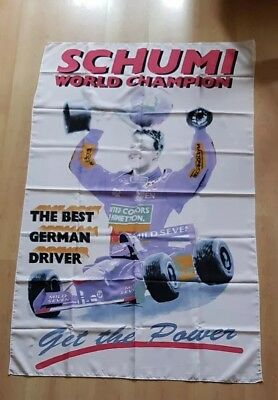 Fahne/Flagge Formel 1 Michael Schumacher Formula One World Champion 94 Benetton