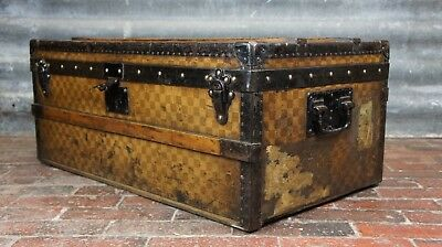 Antique Early Louis Vuitton Damier Steamer Trunk