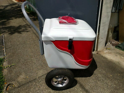 Portable Red and White Gelato Ice Cream Cart - New