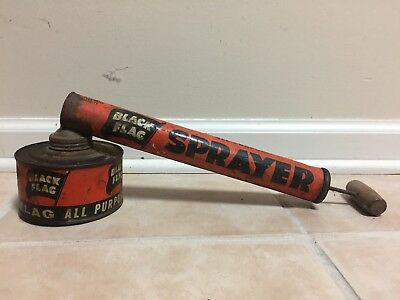 Vintage Black Flag Bug Sprayer Boyle-Midway/ Wood Handle.