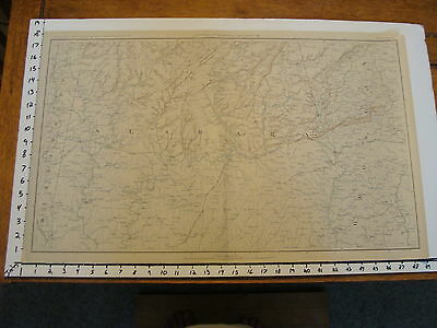 "1891 Civil War Map 18"" X 29"": Topographical Plate CXLVIII: MONTGOMERY TUSCALOOSA"