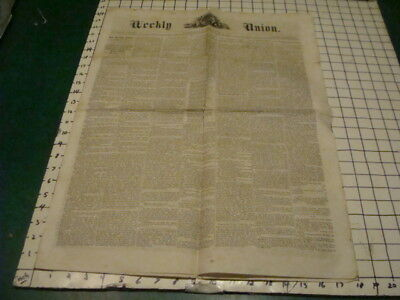 Original Sept 16, 1862 WEEKLY UNION - new Confederate Iron-clad General McDowell