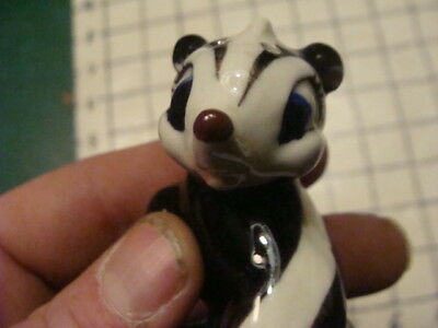 "Original Vintage SKUNK - aprox 3"" tall, unmarked salt or pepper w cork"