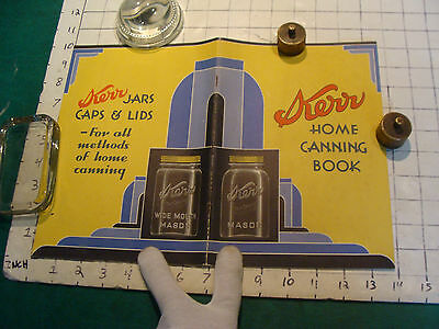 vintage BOOKLET: amazing DECO KERR HOME CANNING BOOK, 1933, 48pgs