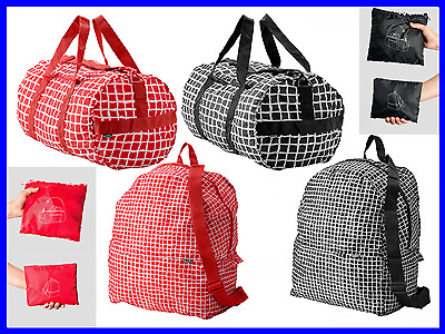 """Packable & Collapsible - Large Duffel Sports Bag 21"""" and Backpack 17"""" Travel Gym"""
