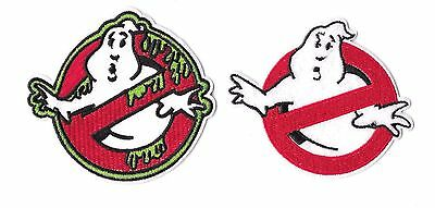 GHOSTBUSTERS Iron on / Sew on 2-Piece Patch Set Embroidered Badge Movie PS11