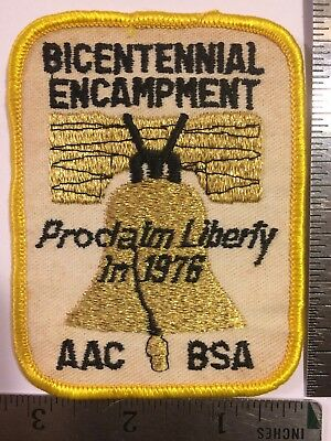 1976 Boy Scouts BICENTENNIAL ENCAMPMENT Atlanta Area Council BSA Patch VHTF