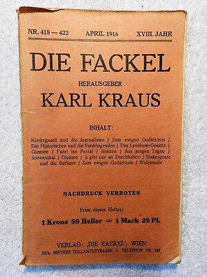 Karl Kraus - Die Fackel - Nr. 418 - 422 - April 1916 (R)