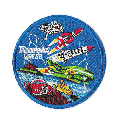 THUNDERBIRDS ARE GO Iron on / Sew on Patch Embroidered Badge Motif TV PT235