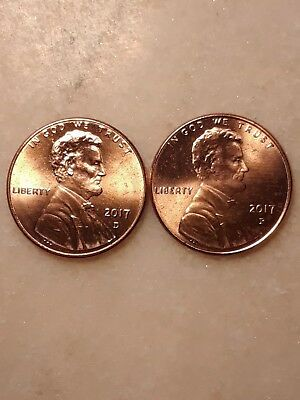 2017 P & D Lincoln Cent uncirculated #34