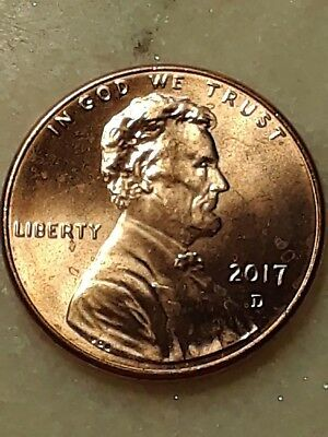 2017 D Lincoln Cent Uncirculated # 34