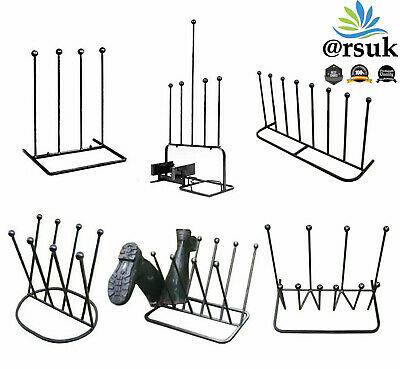 Boot Rack Stand Holder Storage Scraper Cleaner Organiser Out/indoor 2/4/5 Pairs