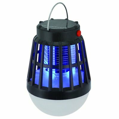 Solar Powered Buzz UV Lamp Light Fly Insect Bug Mosquito Kill Zapper Killer NP
