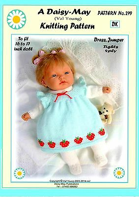 "1 DOLLS KNITTING PATTERN **292** for 9/""-10/"" doll by Val Young."