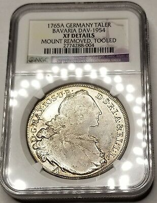 1765-A German States Bavaria 1 Thaler World Silver Coin NGC XF Details