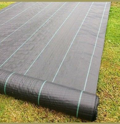 4mx25m Wide 100gsm Yuzet Weed Control Fabric Ground Cover Membrane
