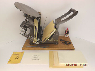 Kelsey 6x10 THE EXCELSIOR Letterpress -reconditioned & 100% print ready