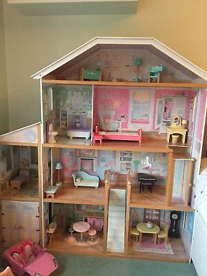KIDKRAFT MAJESTIC MANSION WOODEN DOLLS HOUSE WITH FURNITURE   Collection  Only
