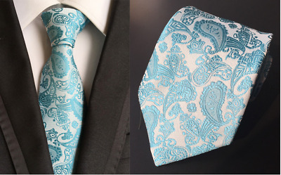 Tie Black Silk Mens Paisley Woven Classic 2018 Wedding Necktie JACQUARD 010