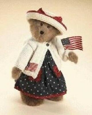 "Boyds Bears ""Dolly M. Bearsevelt"" 16""Patriotic Bear- #918012SM-BBC EXCLUSIVE-NWT"