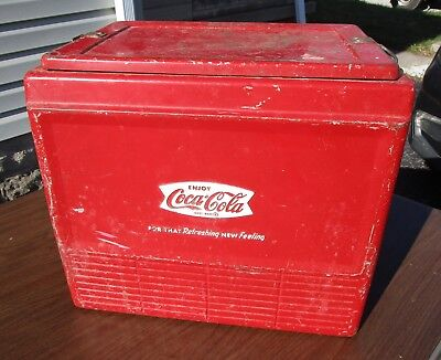 Vintage Progress Fishtail Coca-Cola Cooler  With Insert