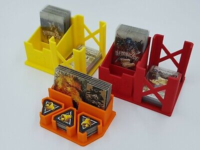 Zombicide Black Plague Card Holders - Sleeved Cards - Set of 3