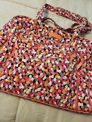 Vera Bradley Diaper Bag With Changing Pad Large Orange Coral