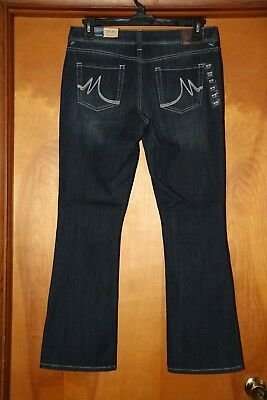 80be635122b NWT Maurices Ladies 9 10 Short Ellie Straight Fit Slim Boot Stretch Jeans  (3919
