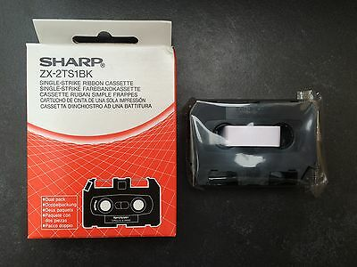 2 x Sharp Font Writer ZX-2TS1BK Single-Strike Ribbon Cassette (Two Cassettes)