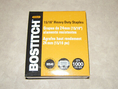"1,000 Stanley Bostitch 15/16"" Heavy Duty Staples SB3515/16HC-1M For Model 00540"