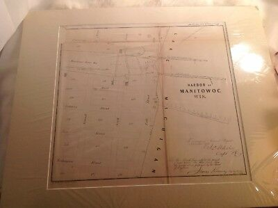 Historical Nautical Chart WI, Manitowoc Harbor Year 1854