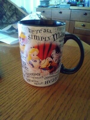 Disney I'm Late Alice in Wonderland Mad Tea Party Mug Disneyland Disney Parks