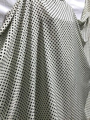 *NEW*100/% L//weight Smooth Polyester Polka Dot Print Dress//Craft Fabric*FREE P/&P*