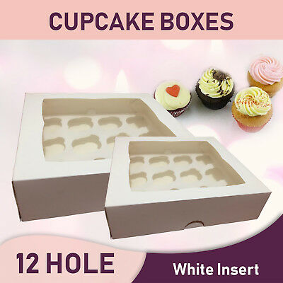 Cupcake Boxes 12 Hole 20Pk Window Face Cake Boxes Cake Boards Free Delivery Aust