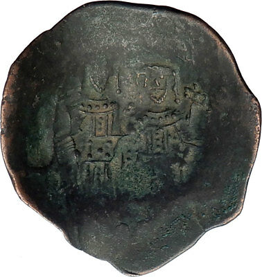 Alexius III Angelus 1195AD Ancient BYZANTINE Coin CHRIST St.Constantin  i73732