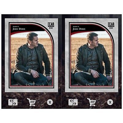 2X FEAR FOCAL POINT WAVE 2 RED MARATHON JOHN DORIE Walking Dead Trader Digital