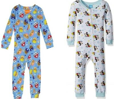 536e2763efd7 MICKEY MOUSE   Paw Patrol Toddler Boys Blanket Sleepers PJs Sizes 3T ...