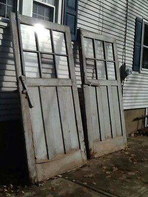 Authentic Original Vintage Barn Doors 1930's Large