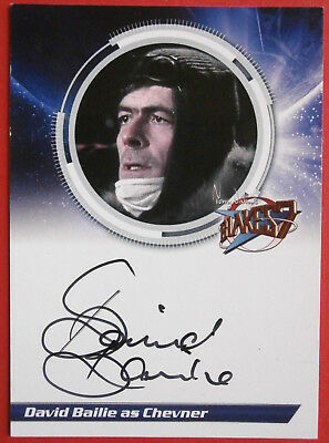 BLAKE'S 7 - DAVID BAILIE, as Chevner - Autograph Card, Unstoppable Cards 2013