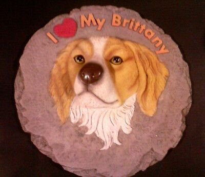 """Brittany Spaniel - I Love My Brittany 10"""" 3D Wall Plaque by Spoontiques"""
