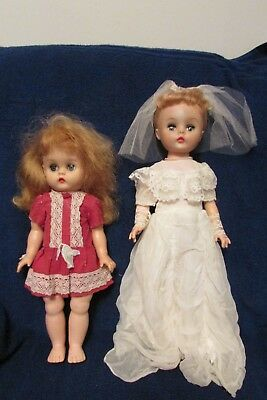 Two Vintage Canadian Made Dee & Cee Dolls