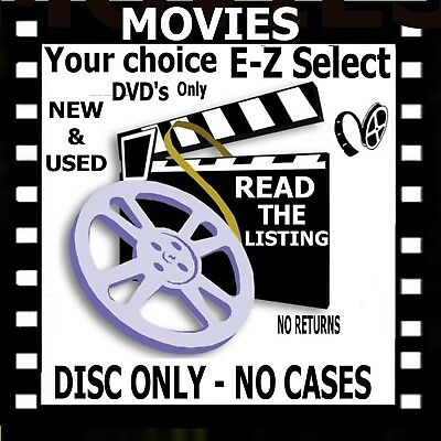 Movie Lot BIN $1.59 Your choice No Case New & Used DVD #9