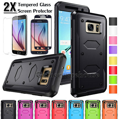 Hybrid Hard Bumper Shockproof Case Cover For Samsung Galaxy S6 / Edge / Plus