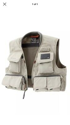 SIMMS Freestone Vest - Putty - Large - NEW w Tags- Fly Fishing