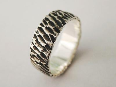 Sovats 925 Sterling Silver Mens Jewelry Antique Texture Ring For Mens Size 5-12