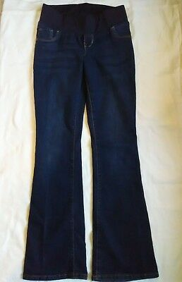 Old Navy Maternity Stretch Jeans Slim Boot Cut Low Panel Belly Band Size 6 Med